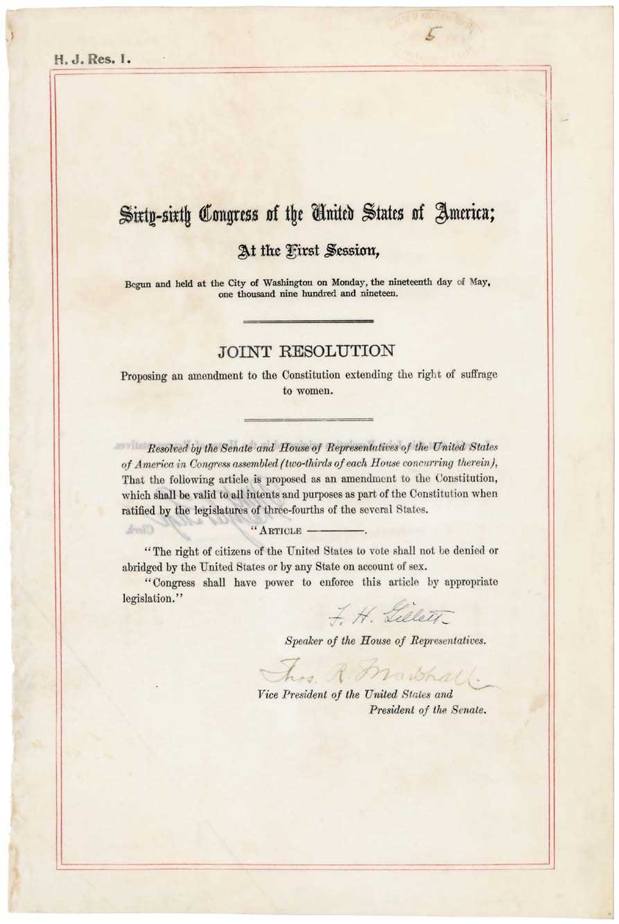 19th Amendment Centennial Celebration Continues in 2021
